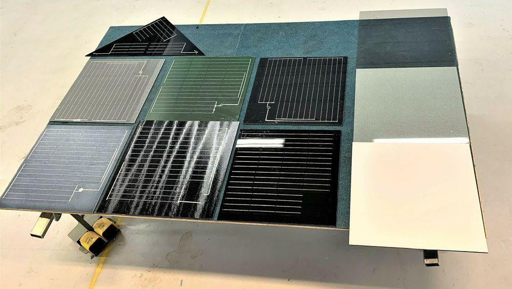 Solcelleplatene kan lages i flere farger.