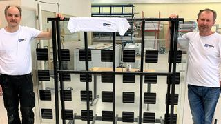 BIPV Production of Norway Ole Christian Emaus solceller skifer takstein fasadeplater solenergi watt effekt strøm jømna