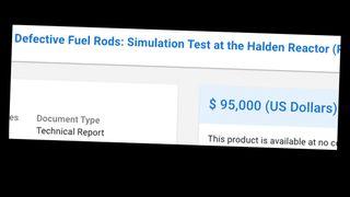 Selger teknisk rapport for 95.000 dollar fra atomeksperiment som er gransket for juks