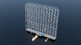 Denne rammen har 117 turbiner med blader av aluminium: Skal høste fem ganger mer energi enn dagens turbiner