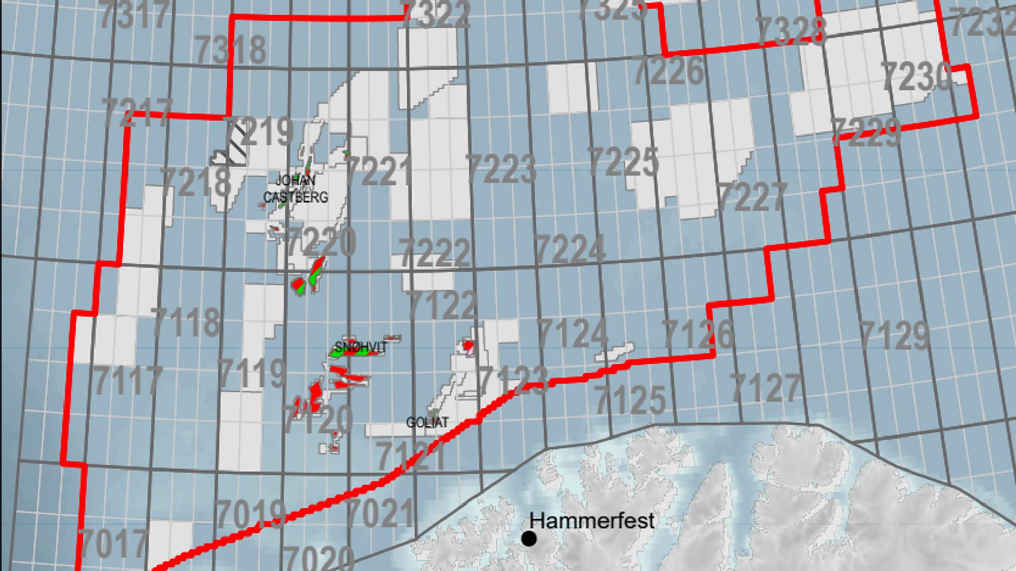 70 nye blokker er lagt til i Barentshavet for utlysningen av TFO 2021.