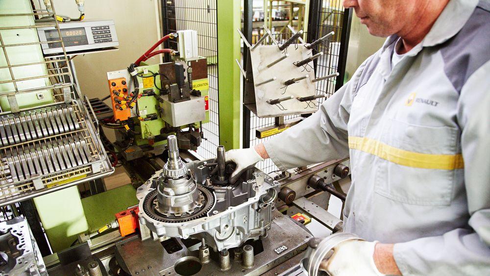 Fra produksjon av elbilmotor i Renaults fabrikk i Ruitz.