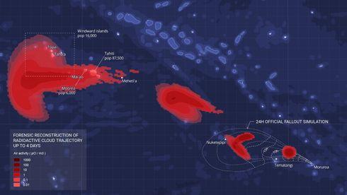 Kart over Polynesia.