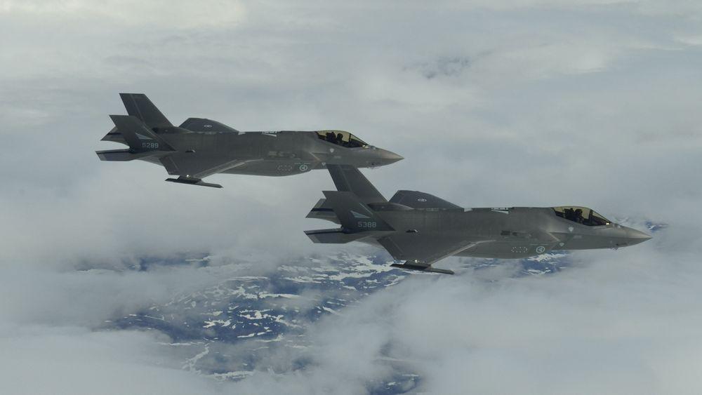 To norske F-35A under øvelsen ACE-21.