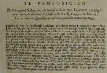 Den krypterte teksten til Michiel Florentius van Langren i boken «La verdadera longitud».
