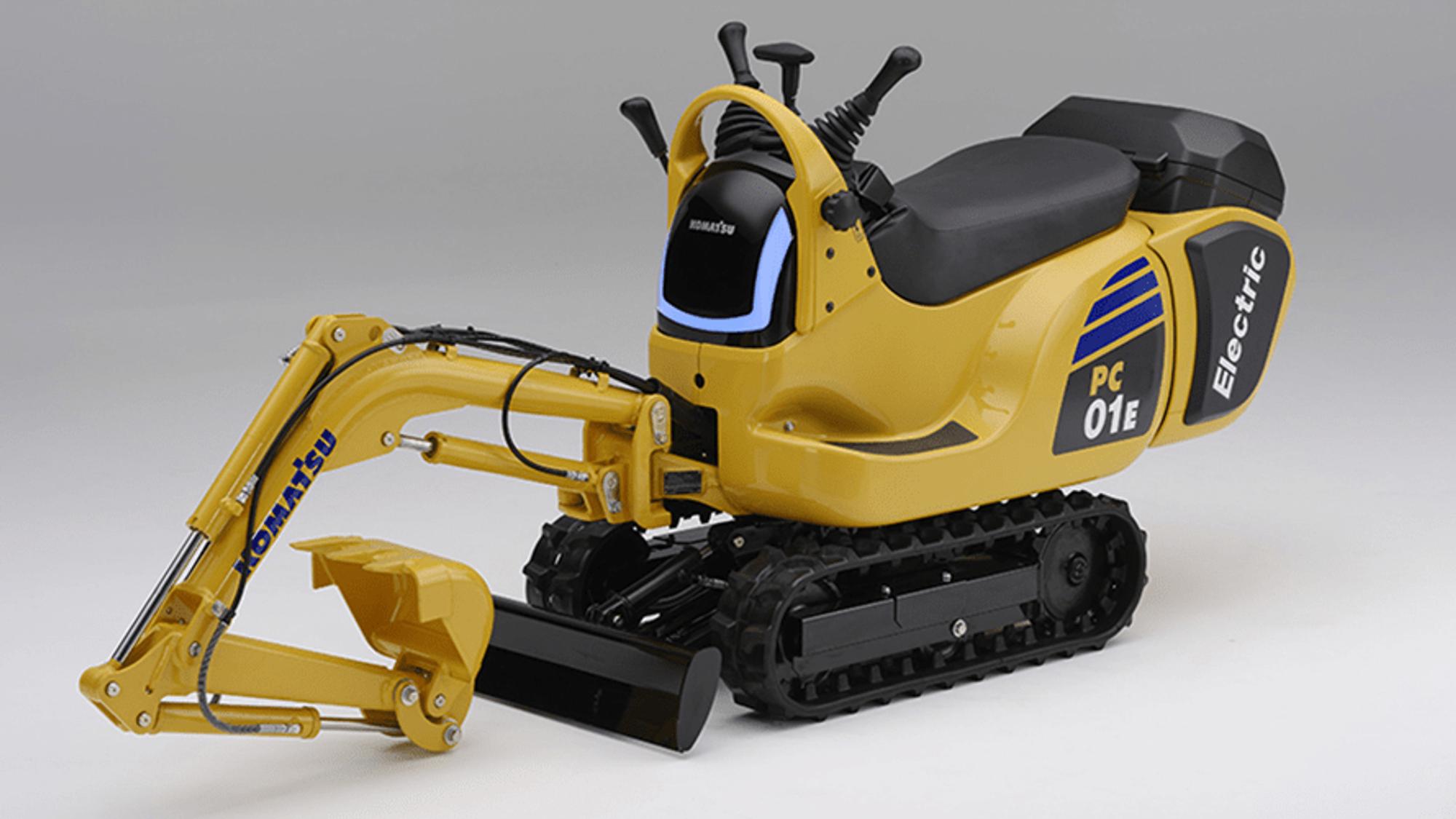 Sammen med Honda vil Komatsu utvikle en liten gravemaskin som kan bruke utskiftbare batteripakker.