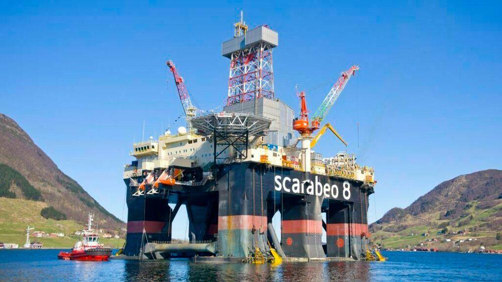 Boreriggen Scarabeo 8 har boret de to letebrønnene King og Prince, hvor det ble funnet olje og gass.