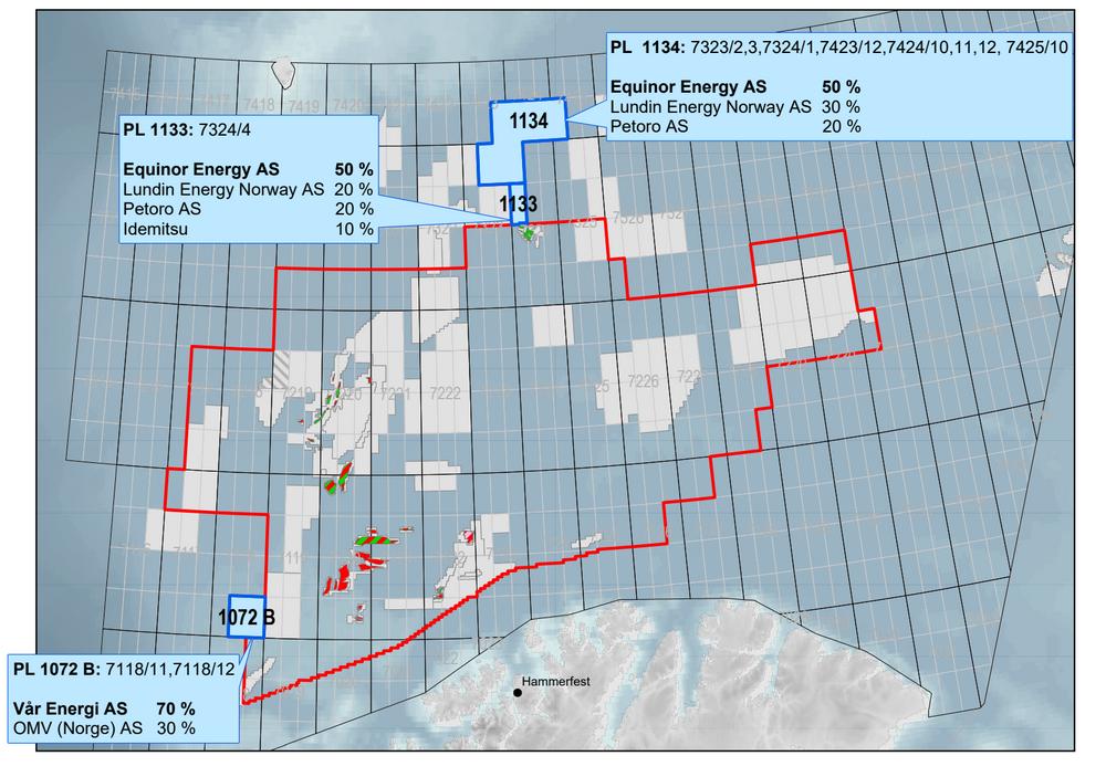 Det er tildelt tre lisenser i Barentshavet som del av 25. konsesjonsrunde, i tillegg til én i Norskehavet. Alle de syv selskapene som søkte har fått nye eierandeler i lisenser.