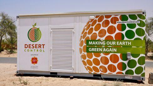 Desert Control sin mobile produksjonsenhet er på størrelse med en 20-fots shippingkonteiner.
