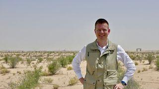 Administrerende direktør Ole Kristian Sivertsen i Abu Dabi