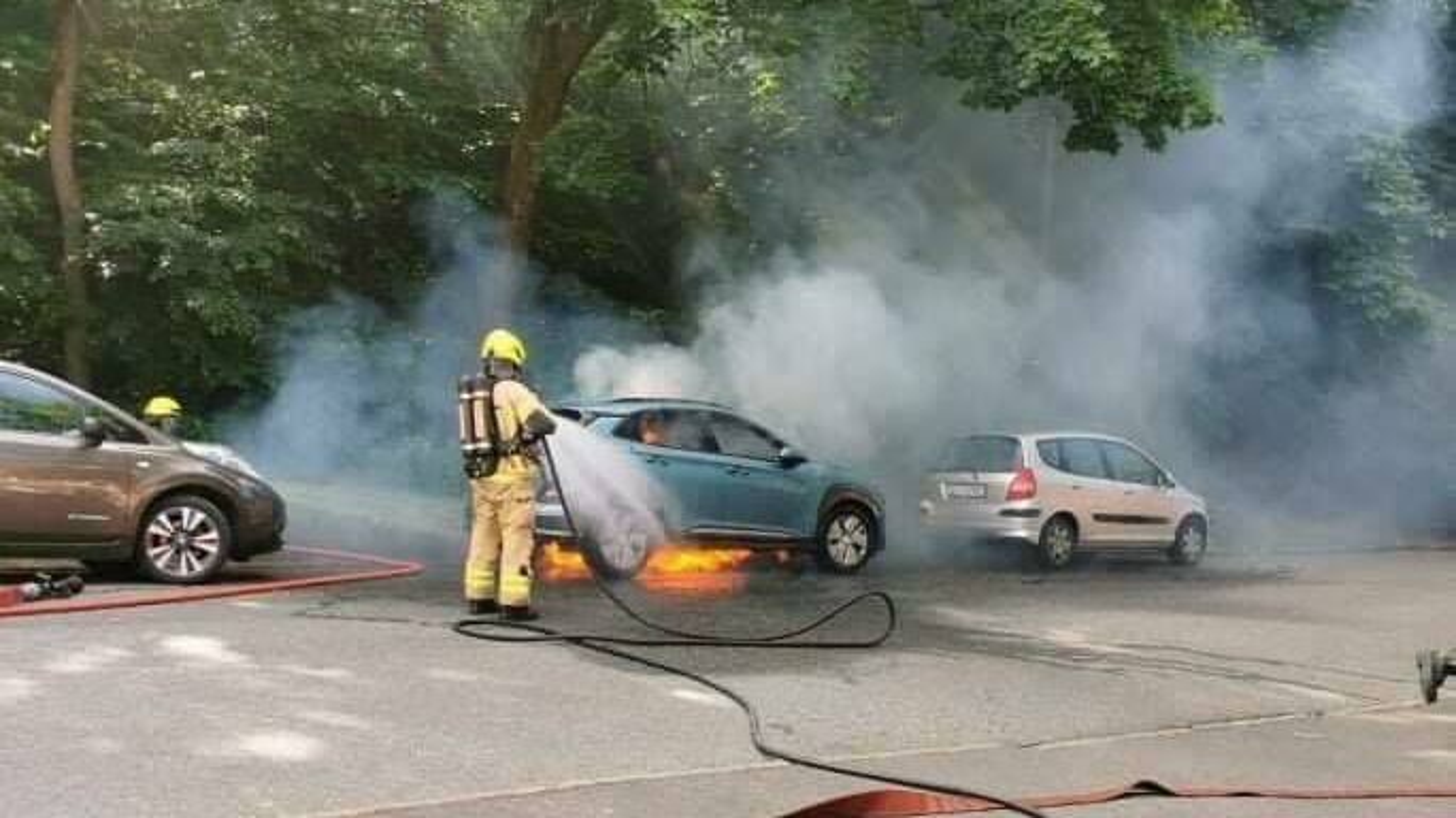 23. juni oppsto det brann i en elbil i Oslo.