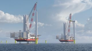 Cadeler får det første av to installasjonsskip i tredje kvartal 2024. Det skal rett inn på RWEs vindpark Sofia og installere 100 turbiner på 14 MW hver.