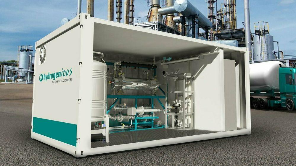 Hydrogenious i Tyskland har utviklet LOHC-systemer for landbaserte bruksområder. Norske Østensjø skal bidra til at det kan brukes på skip sammen med brenselceller.