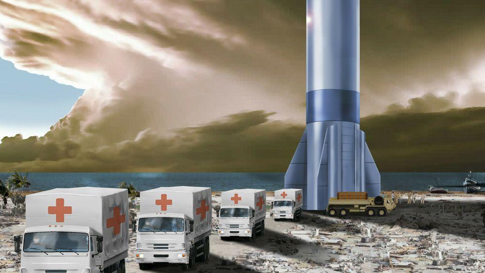 Nødhjelp sendt av gårde med rakett. Sånn selger det amerikanske luftforsvaret sin idé om å gjøre bruk av Starship.