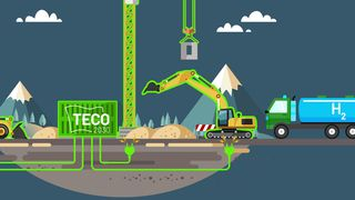 Brenselcelle generator hydrogen dieselaggregat teco 2030 implenia utslippsfri byggeplass tore enger fossilfre el