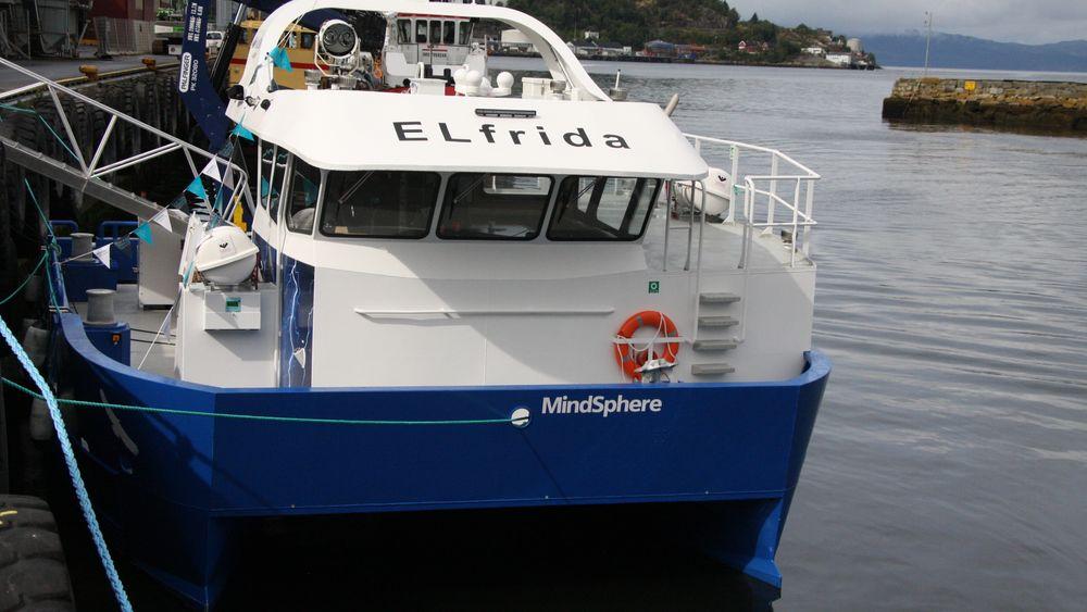 Elfrida var den første elektriske arbeidsbåten.