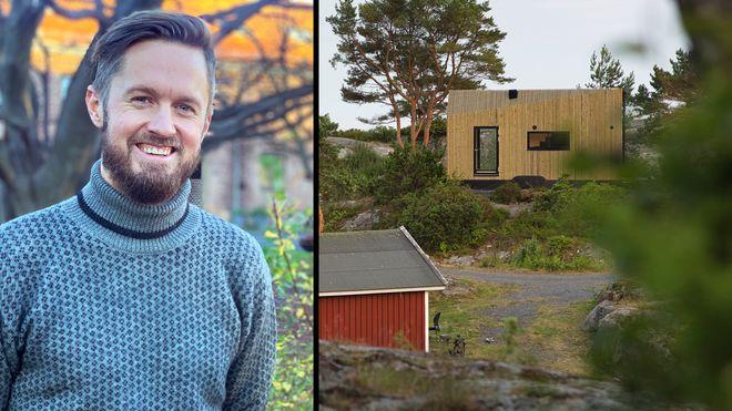 Vju vjuhytta ivar hogganvik marika andersen mikrohus hytte henger kompakthytte easy living dark minihus