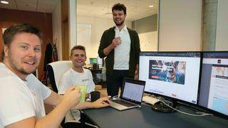 Utviklerne hos Lilbit jobber godt sammen under workshop like før ferieavviklingen.