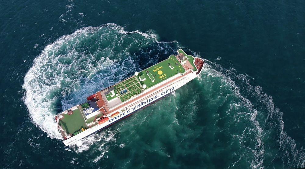 Sykehusskipet Global Mercy har ekstrem manøvrerbarhet som gjør at hun kan komme inn i lite tilgjengelige havner