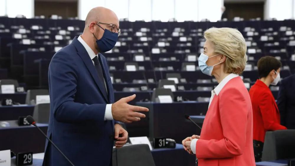 Charles Michel, president i Det europeiske råd, og EU-kommisjonens president Ursula von der Leyen.