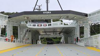 MF Hydra er i normal drift på rv 13 Hjelmeland-Skipavik-Nesvik som diesel-elektrisk batterihybrid ferge.