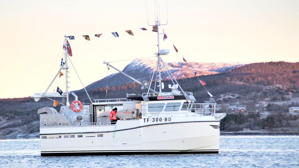 Den foreløpig siste hybridsjarken fra Selfa, 11 meter lange «Solheim», som nå er i drift utenfor Båtsfjord i Finnmark.