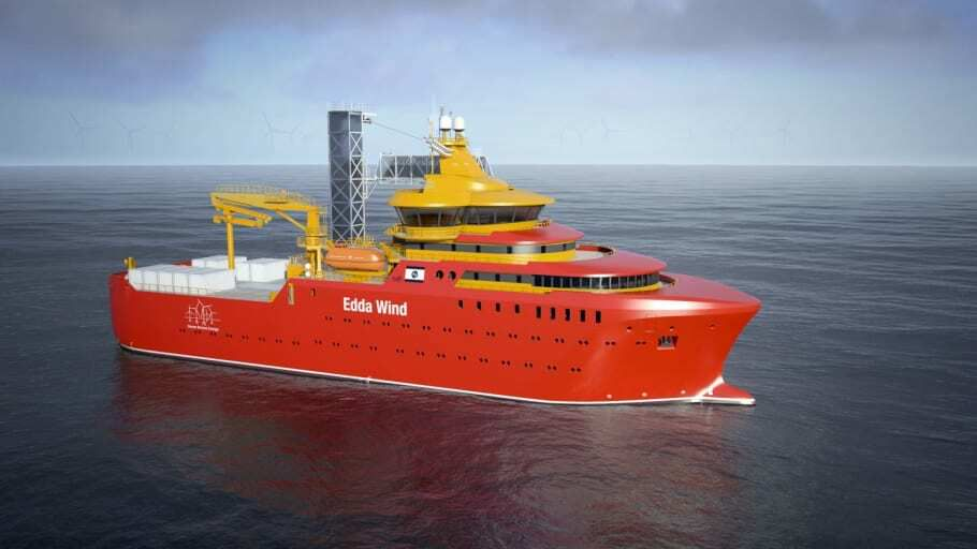 Edda Wind-fartøyene i Østensjø er blant fartøyene som skal tilrettelegges for et framdriftssystem basert på hydrogen lagret i olje.