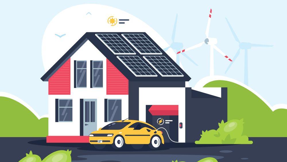 Å anskaffe batterier i boligen, eller sette dem inn i nettet, er veldig dyrt. Men boligen og elbilen kan brukes som energilager. Det er billig.