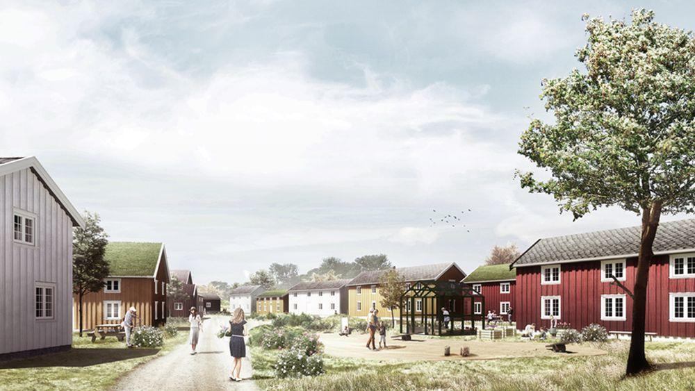 Omtrent som dette kan den nye bydelen bli seende ut, ifølge arkitektene.