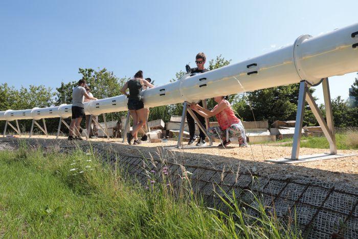 Europas første testbane for hyperloop kom på plass i Lausanne i juli 2021.