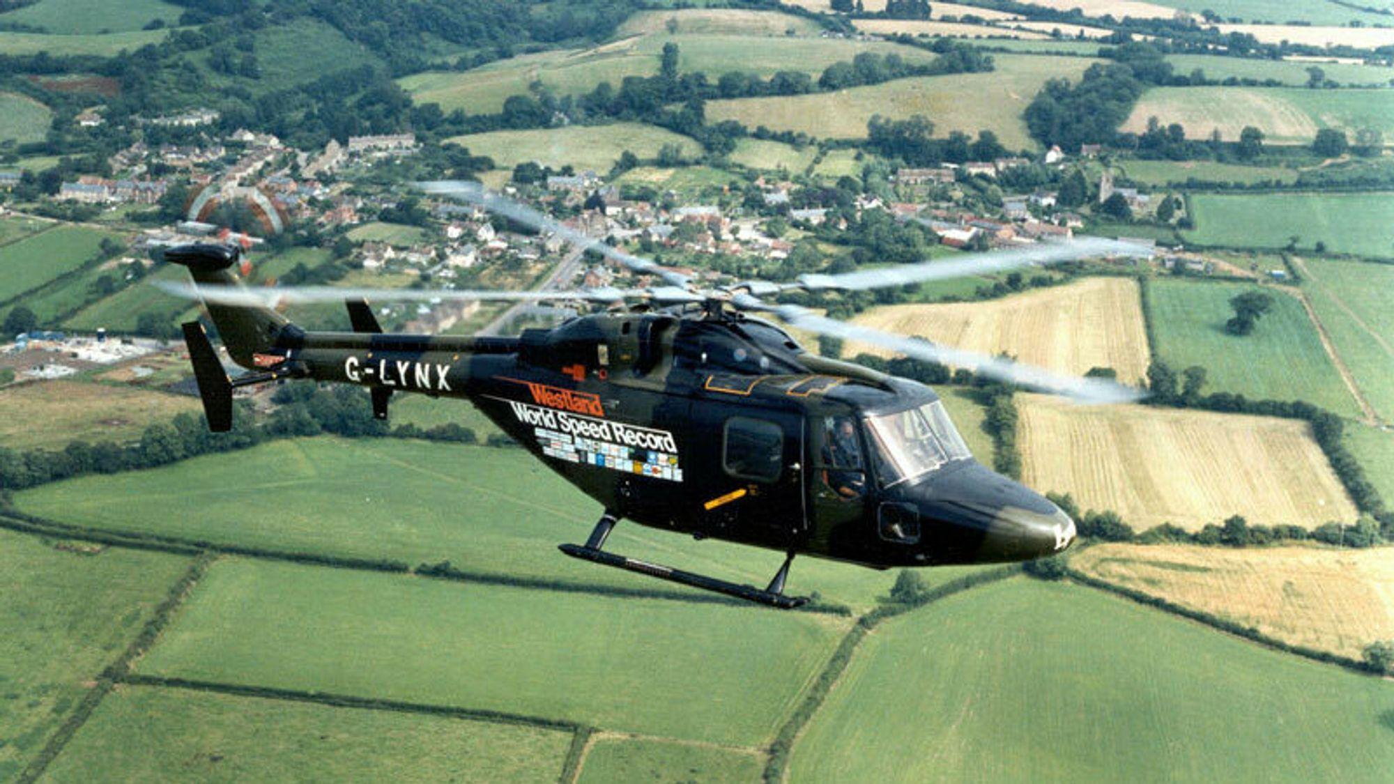 G-LYNX over Somerset for 35 år siden.
