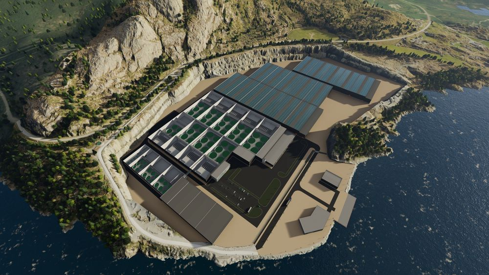 Fullt utbygd kan Ecofisk produsere totalt 40 000 tonn laks og 20 millioner smolt årlig. Deler av anlegget skal få solcellepanel på taket.