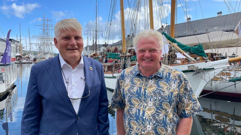 Nils Røkke, bærekraftdirektør i Sintef, og Johan E. Hustad, direktør for NTNU Energi etterlyser en storstilt norsk satsing på CO2-lagring.