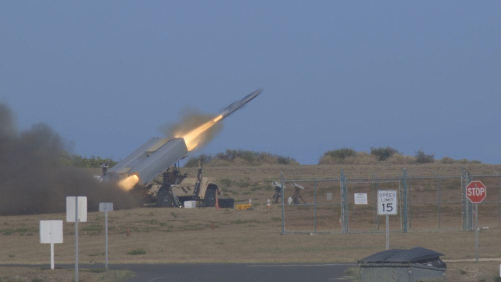 NSM skytes fra Pacific Missile Range Facility Barking Sands på Kauai søndag 15. august.