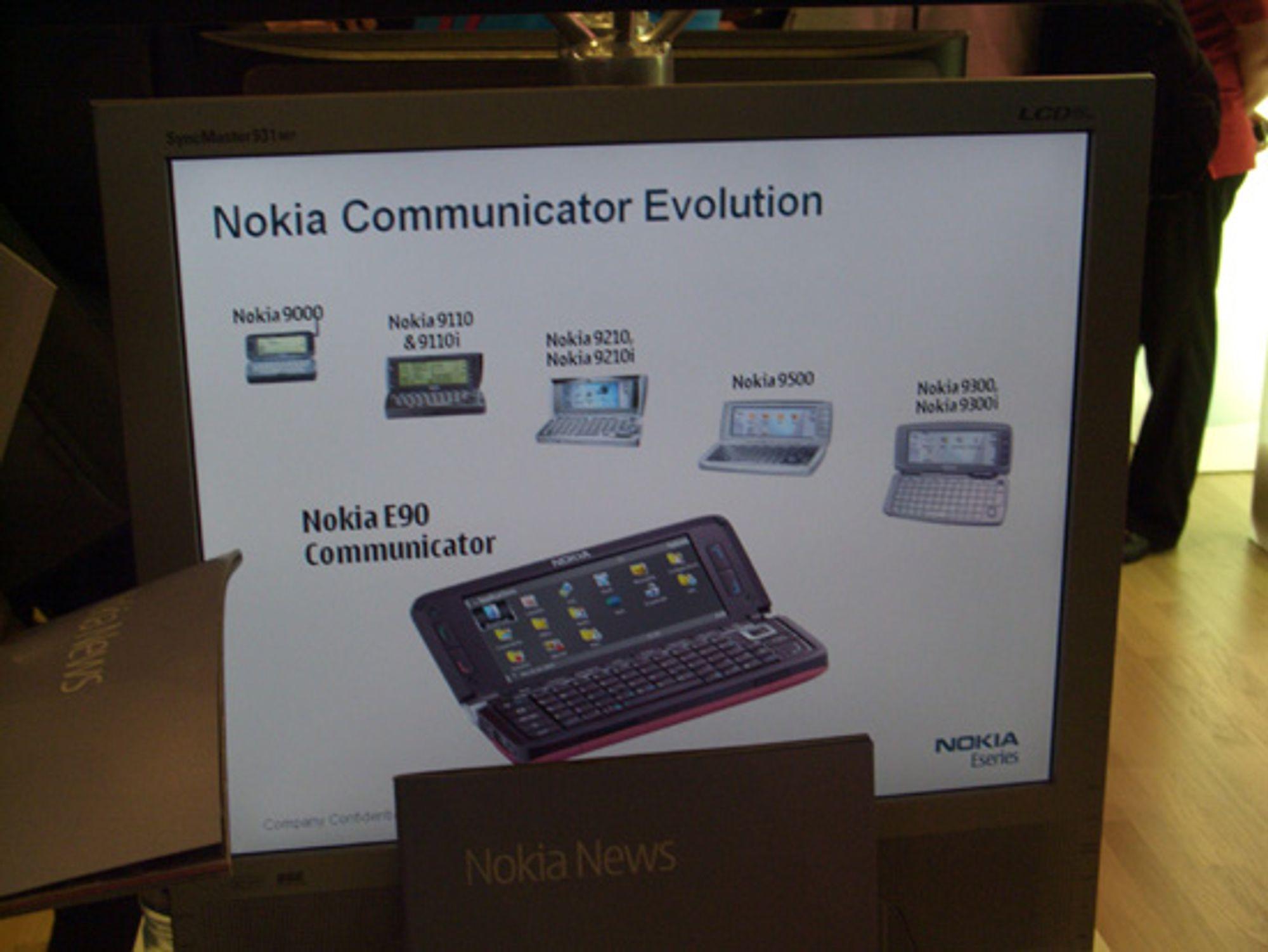 Communicator-serien fra 9000 til 9300i. E90 under.