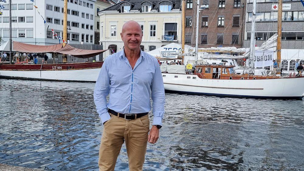HJemme: Trønderen og Morrowsjef Terje Andersen bor i Oslo, men det spørs om ikke Arendalittene krever at han blir en av dem. De som bor i sørlandsbyen er mildt sagt begeistret over det han driver med.