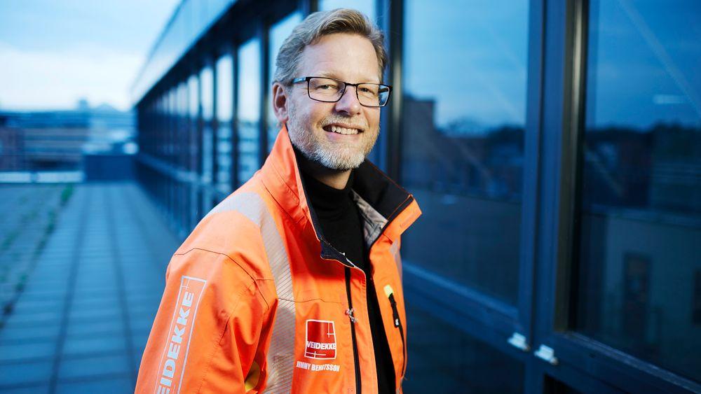 Jimmy Bengtsson, konsernsjef i Veidekke, merker forskjell hos kundene som i økende grad etterspør grønne løsninger. Men bestillerkompetansen er fortsatt for lav, mener konsernledelsen.