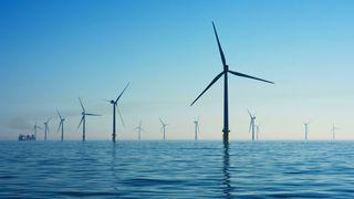 Rampion Offshore Wind Farm utenfor Sussex-kysten i Storbritannia.