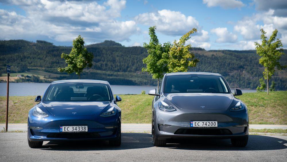 Tesla Model Y bruker mer energi enn Model 3, men hvor mye? Vi tester.