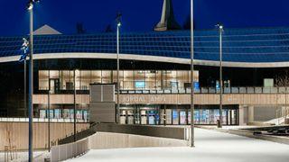 Nye Jordal Amfi Hille Melbye arkitekter arkitekturpris prix versailles robin rakke magnus sandberg johansen idrettsbygg