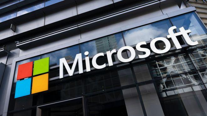 Illustrasjonsfoto av Microsofts logo.