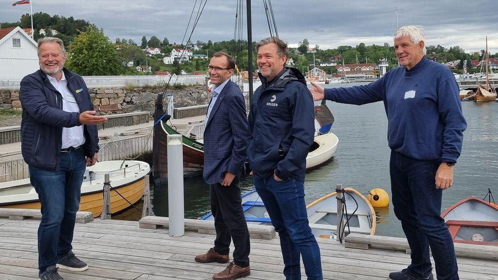 Vil ha ny elektrisk maritimt næringsliv: Christer Ervik  i norske Kruser er en av de Arbeiderpartiet energipolitiske talsmann, Espen Barth Eide, peker på når han ønsker mer elektrifisering på sjøen.