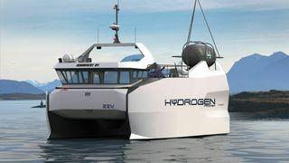 Verft planlegger hydrogenarbeidsbåt– men vil ikke være først ute