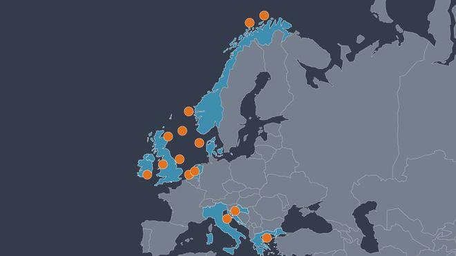 Norske Langskip er langt fra det eneste: 12 prosjekter for CO2-lagring i Europa