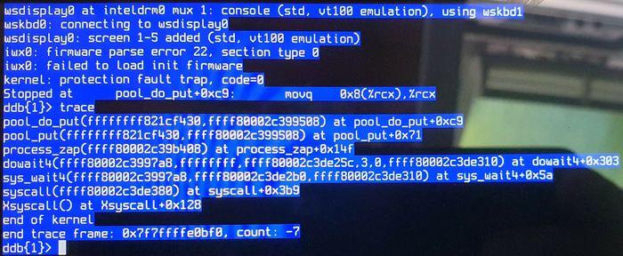 Kjernepanikk i OpenBSD.