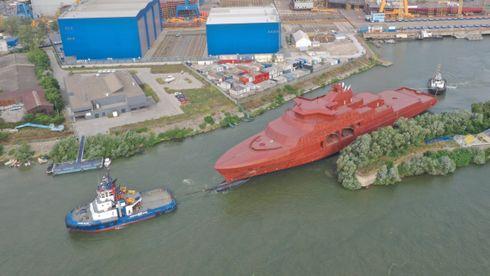 Fire ukers slep: Nå kommer det nye kystvaktskipet til Norge