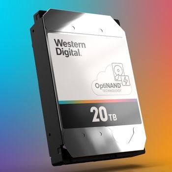 OptiNAND-basert harddisk fra Western Digital.