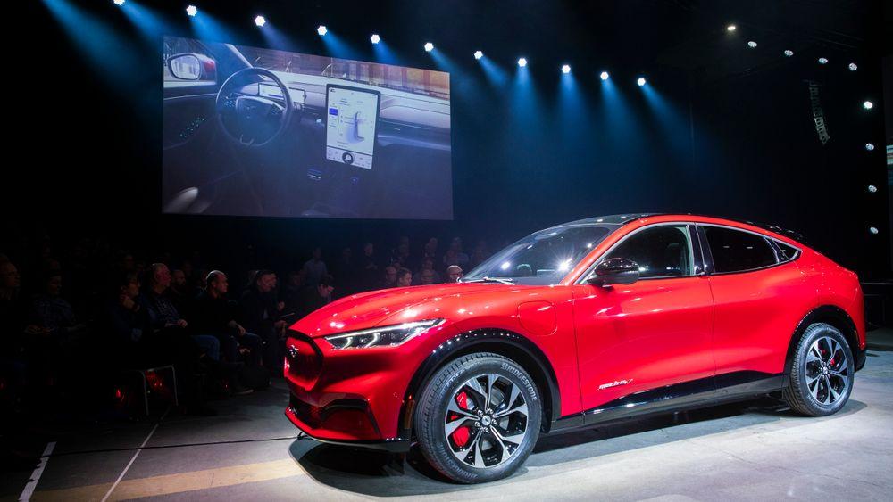 Ford Mustang Mach-E var blant de mest populære elbilene i august, som var ny rekordmåned for denne typen biler.