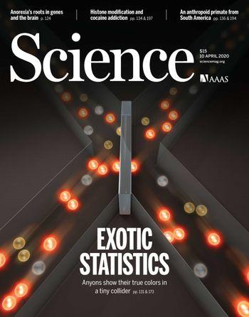 Forsiden på magasinet Science.