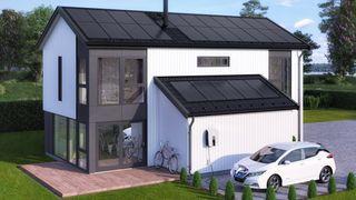 Solceller, arkitektur, prosjektering, bolig, planlegge, montering, hus, norgeshus, greenstat, optimalisere, solcellepaneler